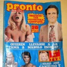 Coleccionismo de Revista Pronto: PRONTO Nº 264 DE 1977 - MANOLO OTERO - ROCIO JURADO - MANOLO ESCOBAR ....... Lote 33230165