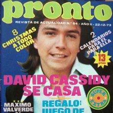 Coleccionismo de Revista Pronto: PRONTO EXTRA 1973/ CALENDARIO 1974, KARINA, DAVID CASSIDY, MARISOL, JEANETTE, ROCIO DURCAL, MASSIEL. Lote 34909573