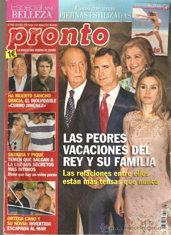 REVISTA PRONTO Nº 2.102 - 18/08/2012 (Papel - Revistas y Periódicos Modernos (a partir de 1.940) - Revista Pronto)