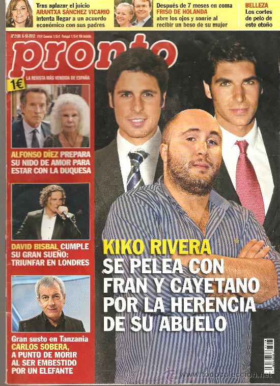 REVISTA PRONTO Nº 2109 - 06-10-12 (Papel - Revistas y Periódicos Modernos (a partir de 1.940) - Revista Pronto)