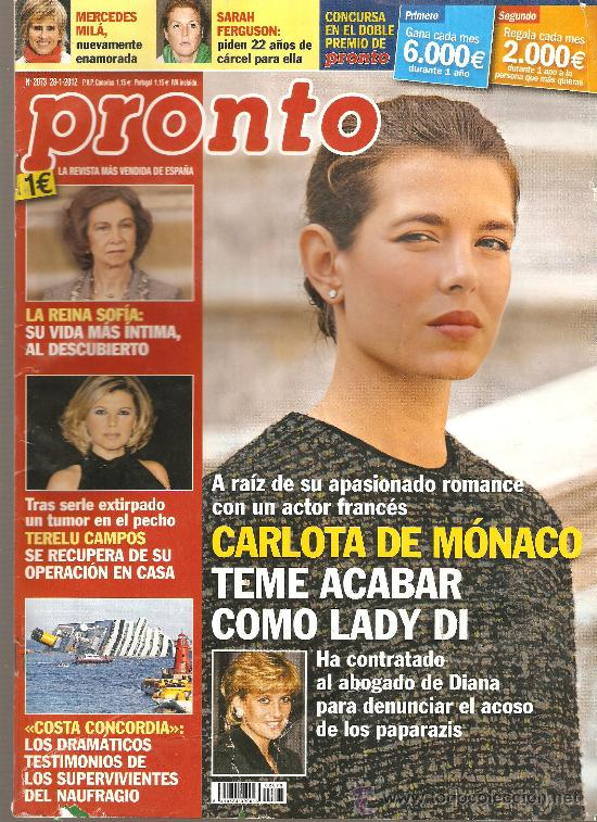 REVISTA PRONTO Nº 2073 - 28-01-12 (Papel - Revistas y Periódicos Modernos (a partir de 1.940) - Revista Pronto)