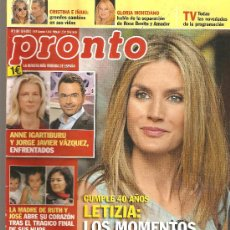 Coleccionismo de Revista Pronto: REVISTA PRONTO Nº 2106 - 15-09-12. Lote 35011561