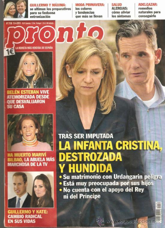REVISTA PRONTO Nº 2.136 - 13/04/2013 (Papel - Revistas y Periódicos Modernos (a partir de 1.940) - Revista Pronto)