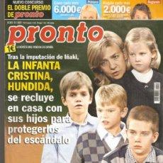 Coleccionismo de Revista Pronto: REVISTA PRONTO Nº 2.072 - 21/01/2012. Lote 36866517