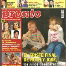 Coleccionismo de Revista Pronto: REVISTA PRONTO Nº 2105 - 08-09-2012. Lote 36884587