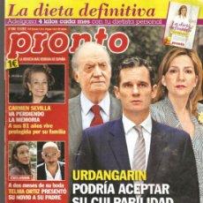 Coleccionismo de Revista Pronto: REVISTA PRONTO Nº 2088 - 12-05-12. Lote 36884663