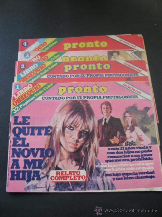 REVISTA PRONTO. LIBRO OBSEQUIO. (Papel - Revistas y Periódicos Modernos (a partir de 1.940) - Revista Pronto)