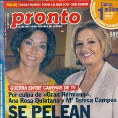 Coleccionismo de Revista Pronto: PRONTO Nº 1467 DE 17-06-2000. Lote 37584255