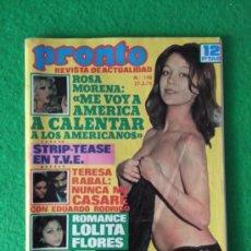 Coleccionismo de Revista Pronto: REVISTA PRONTO NUMERO 198 AÑO 1976. Lote 205859157