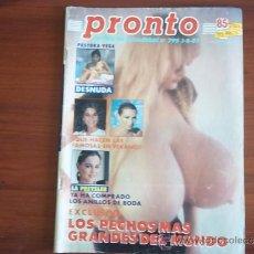 Coleccionismo de Revista Pronto: PRONTO - Nº 795 - 1 DE AGOSTO DE 1987 / PASTORA VEGA DESNUDA / LOLITA EMBARAZADA /LA PREYSLER . Lote 38518966