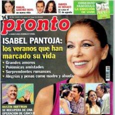 Coleccionismo de Revista Pronto: REVISTA PRONTO , 17/8/2013 Nº 2.154. Lote 40036298