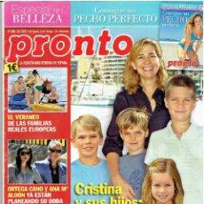 Coleccionismo de Revista Pronto: REVISTA PRONTO 28.7-12 Nº 2.099. Lote 40089226