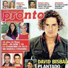 Coleccionismo de Revista Pronto: REVISTA PRONTO 31-8-13 Nº 2.156 . Lote 40089289