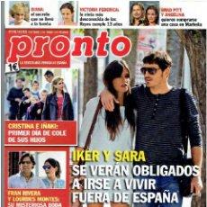 Coleccionismo de Revista Pronto: REVISTA PRONTO 14 -09 - 13 Nº 2.158. Lote 40089651