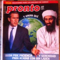 Coleccionismo de Revista Pronto: REVISTA PRONTO Nº 1534 . 29/09/2001 . ROCIO CARRASCO Y RAQUEL MOSQUERA . Lote 40591891
