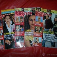 Coleccionismo de Revista Pronto: LOTE TRES REVISTAS *PRONTO*. Lote 40848495
