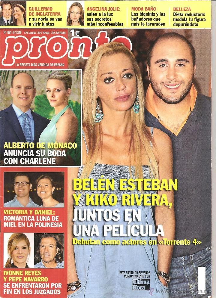 Coleccionismo de Revista Pronto: Tercera revista del lote - Foto 2 - 40848495