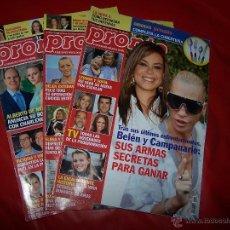 Coleccionismo de Revista Pronto: LOTE TRES REVISTAS *PRONTO*. Lote 40848787