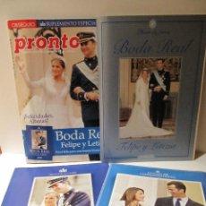 Coleccionismo de Revista Pronto: LOTE REVISTA PRONTO Nº1673 BODA REAL FELIPE Y LETIZIA, ALBUM 29 FOTOS, SUPLEMENTO COMPROMISO OFICIAL. Lote 41553966