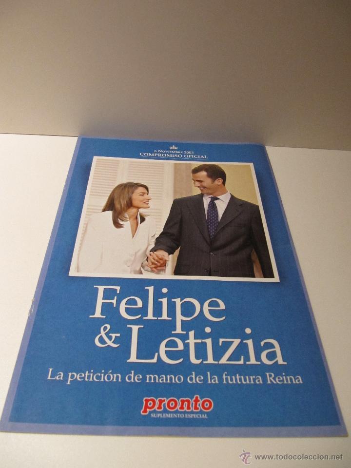 Coleccionismo de Revista Pronto: LOTE REVISTA PRONTO Nº1673 BODA REAL FELIPE Y LETIZIA, ALBUM 29 FOTOS, SUPLEMENTO COMPROMISO OFICIAL - Foto 3 - 41553966