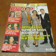 Coleccionismo de Revista Pronto: REV.10/2010 PRONTO -ORTEGA CANO RPTJE.ESPARTACO&PATRICIA,RANIA JORDANIA,MAS FLORES,BELEN ESTEBAN. Lote 42349895