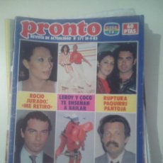 Coleccionismo de Revista Pronto: PRONTO Nº 571 1983 PAQUIRRI ISABEL PANTOJA BERTIN OSBORNE ROCIO JURADO ANA OBREGON CHARLIE RIVEL +++. Lote 43003356
