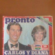 Coleccionismo de Revista Pronto: PRONTO Nº 529 *28/06/1982*ANA DE MECANO*MARLON BRANDO*GALA Y DALI* DORIS DAY*MANOLO ESCOBAR*. Lote 43345608