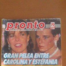 Coleccionismo de Revista Pronto: PRONTO Nº 673 *01/04/1985*ALAIN DELON*CARMEN SEVILLA*ANGELA MOLINA*CHARLTON HESTON*EL LITRI. Lote 43345679