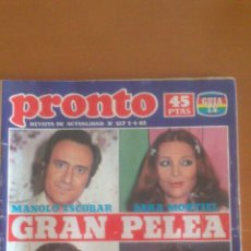 Coleccionismo de Revista Pronto: PRONTO Nº 517 *05/04/1982*AMADOR MOHEDANO*ANA OBREGON*ANTHONY QUINN*TITO Y PIRAÑA. Lote 43345975