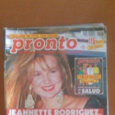 Coleccionismo de Revista Pronto: PRONTO Nº 1013 *05/10/1991*JOSELITO*MUERTE DE TINO CASAL*ROCIO JURADO*JEANNETTE RODRIGUEZ. Lote 43351288