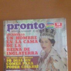 Coleccionismo de Revista Pronto: PRONTO Nº 533 *26/07/1982*ALASKA TIENE NOVIO*ROLLING STONES*PAUL NEWMAN*MANOLO ESCOBAR. Lote 43351957