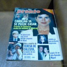 Coleccionismo de Revista Pronto: REV.9/97 CAROLINA RPTJE ESP. TERESA DE CALCUTA,JULIO&MIRANDA PADRES,HOMENAJE A M.ANGEL BLANCO,J.FOST. Lote 43498349