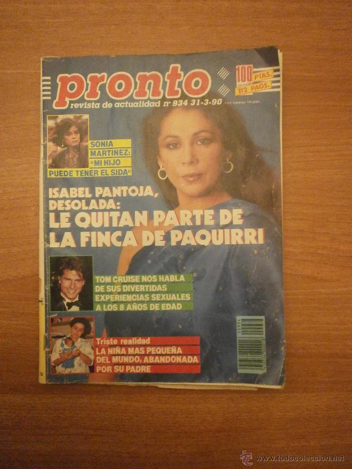 REVISTA PRONTO Nº 918- 9-12-89 (Papel - Revistas y Periódicos Modernos (a partir de 1.940) - Revista Pronto)
