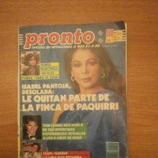Coleccionismo de Revista Pronto: REVISTA PRONTO Nº 918- 9-12-89. Lote 221849742