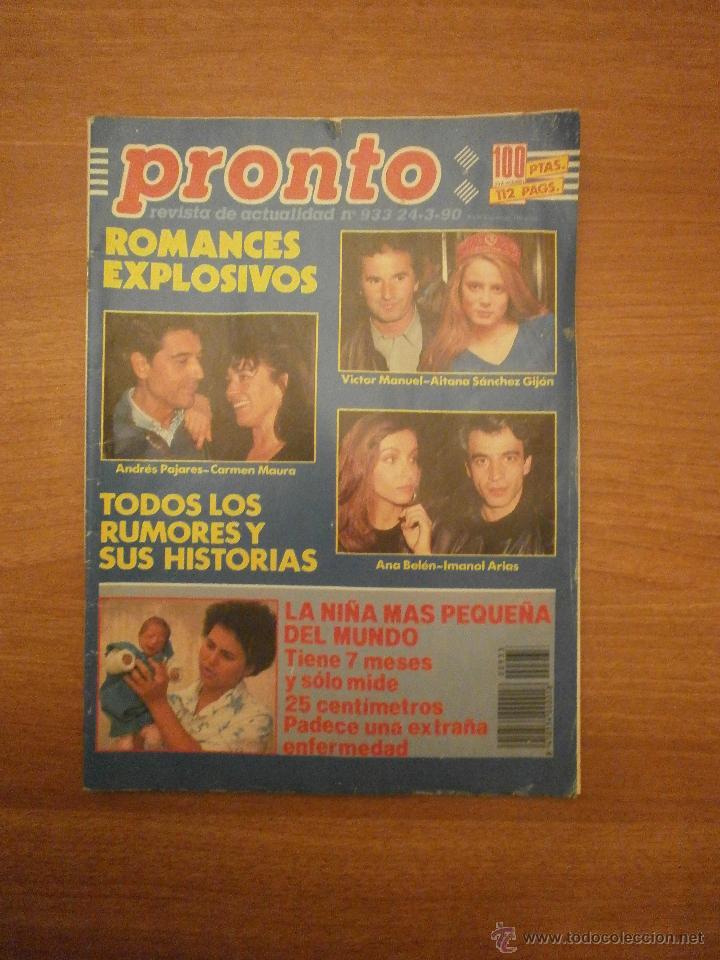 REVISTA PRONTO Nº 933 - 24- 3- 90 (Papel - Revistas y Periódicos Modernos (a partir de 1.940) - Revista Pronto)