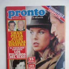 Coleccionismo de Revista Pronto: REVISTA PRONTO - 16 MARZO 1981 - NUM. 462. Lote 43662149