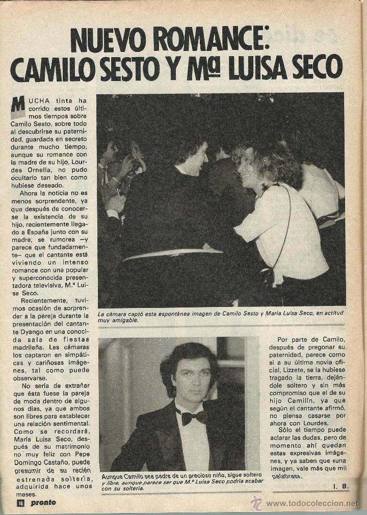 Coleccionismo de Revista Pronto: PRONTO Nº 636 CON CAROLINA DE MONACO Y PROBLEMAS CON SU BEBE - CAMILO SESTO - BERTIN DE 1984 - Foto 5 - 42738000