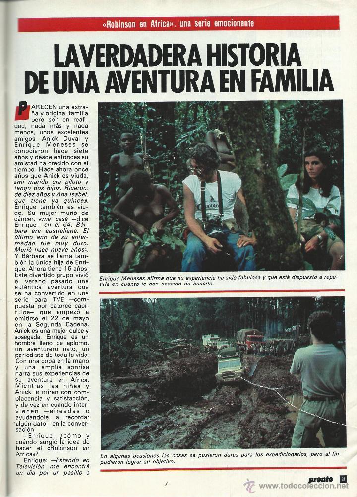 Coleccionismo de Revista Pronto: PRONTO Nº 636 CON CAROLINA DE MONACO Y PROBLEMAS CON SU BEBE - CAMILO SESTO - BERTIN DE 1984 - Foto 8 - 42738000