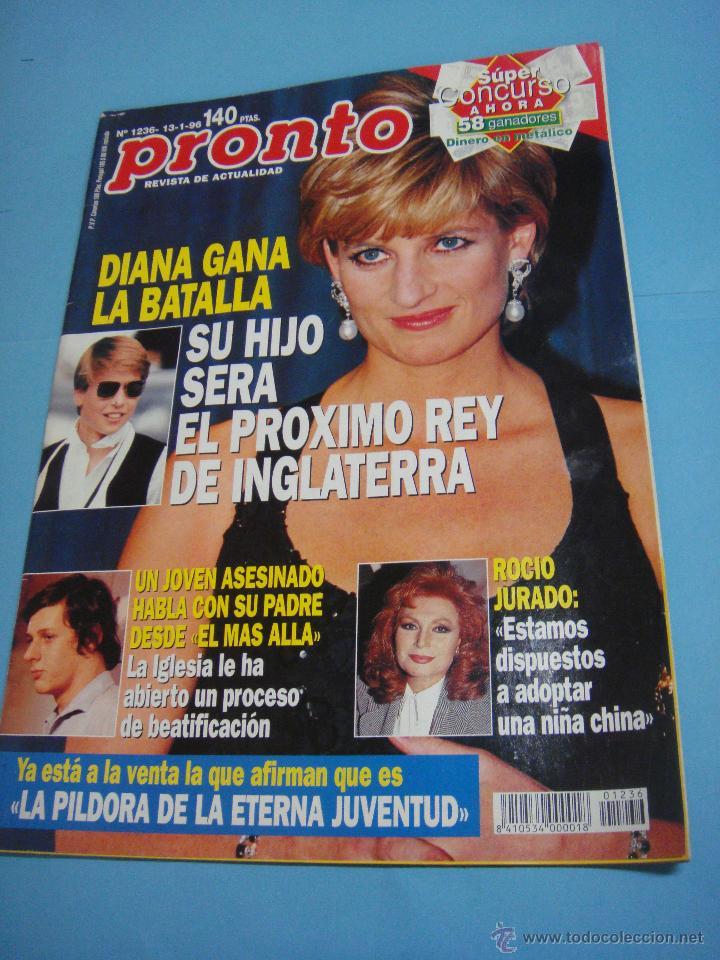 REVISTA PRONTO. Nº 1236 DIANA DE GALES GANA LA BATALLA. LADY DI. ROCIO JURADO. 13 DE ENERO 1996 (Papel - Revistas y Periódicos Modernos (a partir de 1.940) - Revista Pronto)