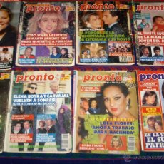 Coleccionismo de Revista Pronto: PRONTO NºS 519, 786, 917, 927, 932, 945, 998 Y 1480. AÑOS 80. RARAS.. Lote 45626206