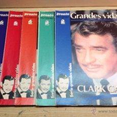 Coleccionismo de Revista Pronto: COLECCIONABLE GRANDES VIDAS CLARK GABLE REVISTA PRONTO 5 FASCICULOS. Lote 45766965
