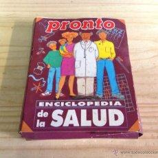 Coleccionismo de Revista Pronto: ENCICLOPEDIA DE LA SALUD REVISTA PRONTO 38 FASCICULOS COMPLETA. Lote 45767399