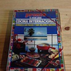 Coleccionismo de Revista Pronto: COLECCIONABLE DE EL GRAN LIBRO DE LA COCINA INTERNACIONAL REVISTA PRONTO COMPLETA . Lote 45767453