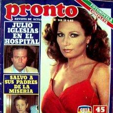 Coleccionismo de Revista Pronto: REVISTA PRONTO 1982 / ROCIO JURADO, MECANO, MANOLO ESCOBAR, JULIO IGLESIAS, FOTONOVELA COMPLETA. Lote 45977758