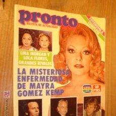 Coleccionismo de Revista Pronto: REVISTA - PRONTO Nº 559, 24-1-83. PORTADA MAYRA GOMES KEMPZ. Lote 46873281
