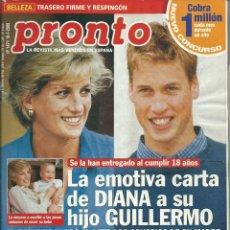 Coleccionismo de Revista Pronto: PRONTO Nº 1471 DEL 2000 CON- DIANNA DE GALES. Lote 47411353