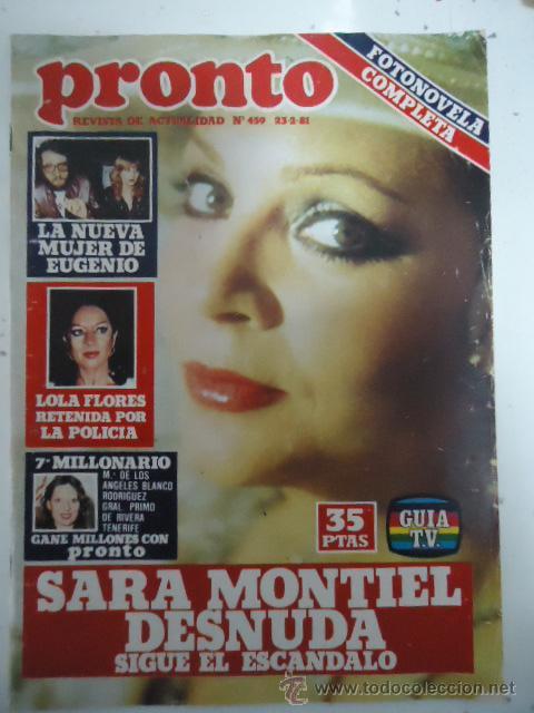 Revista Pronto Nº 459 23 2 81 Sara Montiel De Sold Through Direct