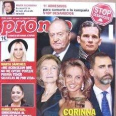 Coleccionismo de Revista Pronto: REVISTA PRONTO NÚMERO 2131. 9 DE MARZO DE 2013. CORINNA SIEMBRA LA DISCORDIA. Lote 48409138