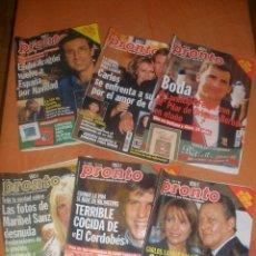 Coleccionismo de Revista Pronto: 6 REVISTAS PRONTO,DE LOS AÑOS 1998 Y 1999.. Lote 50924401