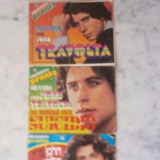 Coleccionismo de Revista Pronto: MI VIDA POR JOHN TRAVOLTA EN 3 CAPITULOS OBSEQUIO DE PRONTO. Lote 51010210